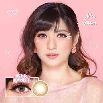 Pink Rabbit Alice Brown Softlens
