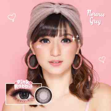 Pink Rabbit Florence Grey Softlens