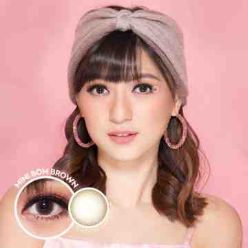 Kitty Kawaii Mini Bom Brown Softlens