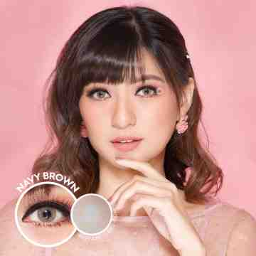 Kitty Kawaii Navy Brown Softlens