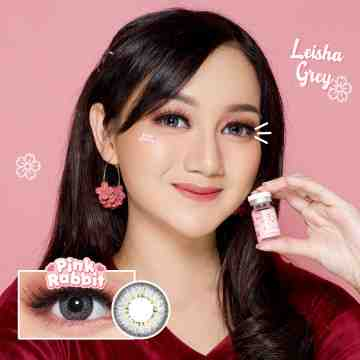Pink Rabbit Leisha Grey Softlens
