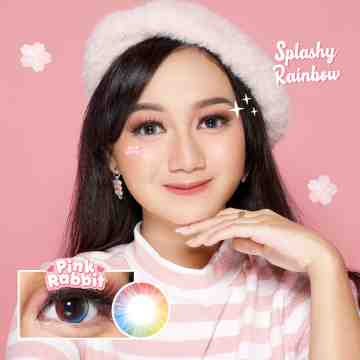 Pink Rabbit Splashy Rainbow Softlens