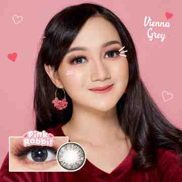 Pink Rabbit Vienna Grey Softlens