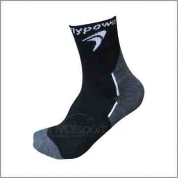 Kaos Kaki Flypower 030 (Black/Grey)