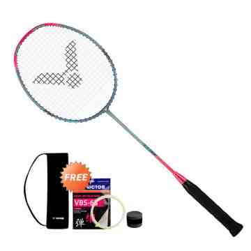 Raket Badminton VICTOR THRUSTER K HAMMER LIGHT (+tas cover +senar +grip)