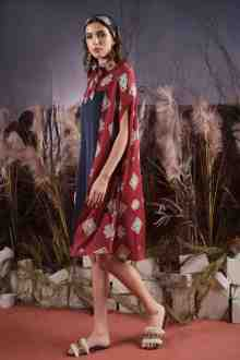 VT8179-1 SALAQBI CAPE DRESS