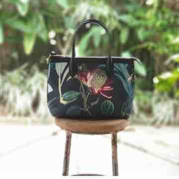 Premium Hand Bag Forest Orchid Black image