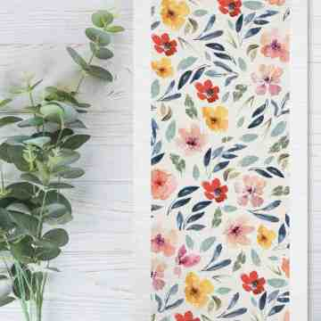 Table Runner Besar Bunga Kenikir Seruni Living image