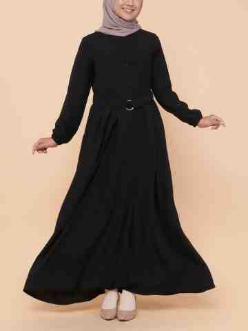 Safa Crepe Dress - Black image