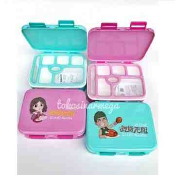 Yooyee Lunch Box Anti Tumpah 7 sekat Yooyee 607 image