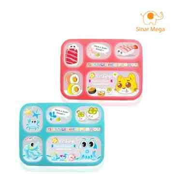 Yooyee Lunch Box 6 Sekat Anti Tumpah 589 image