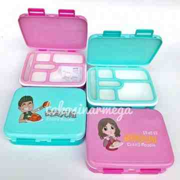 Yooyee Lunch Box Anti Tumpah 6 sekat Yooyee 608 image