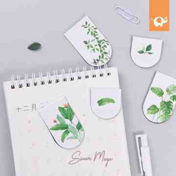 Natural Leaves Magnetic Bookmark image