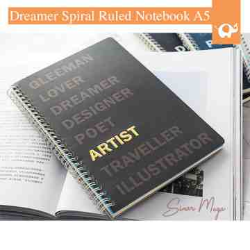 Dreamer Spiral Ruled Notebook A5 image
