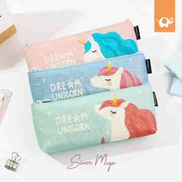 Dream Unicorn Glitter Pencil Case image