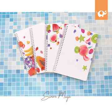 Fruit Party Spiral Ruled Notebook B5 image