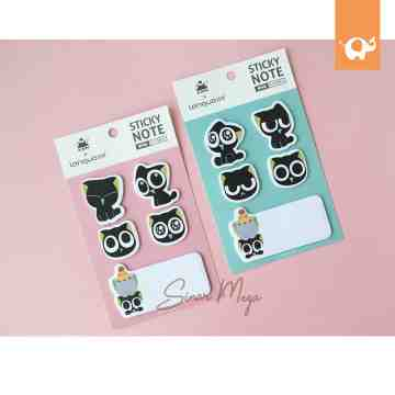 Black Cat Sticky Notes image