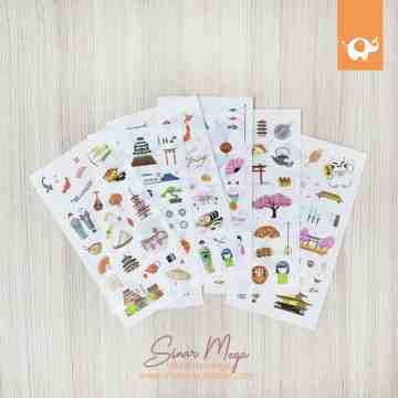 One Day In Japan Diary Deco Stickers image