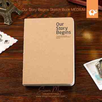 Our Story Begins Sketch Book MEDIUM image