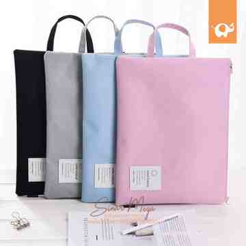 Super Scolar Canvas Tote Folder A4 image