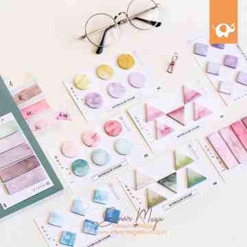 Watercolor Shapes Sticky Notes image