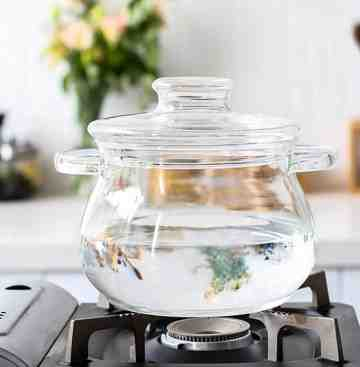 UCHII Glass Cooking Pot with Lid 3L Panci Tutup Kaca Borosilikat Large image