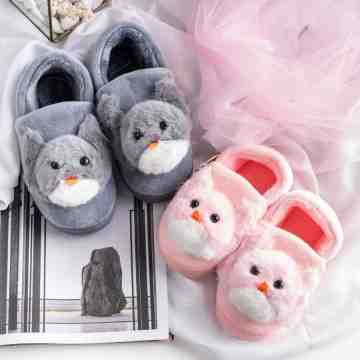 UCHII Exclusive Kids NEKO Home Shoe Unisex Plush Doll | Sepatu Anak image