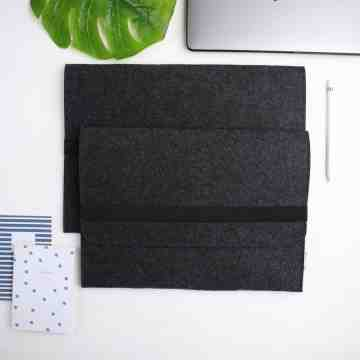 "UCHII Portable Laptop Felt Bag Holder | Tas Travel Tablet File 15.4"" L image"