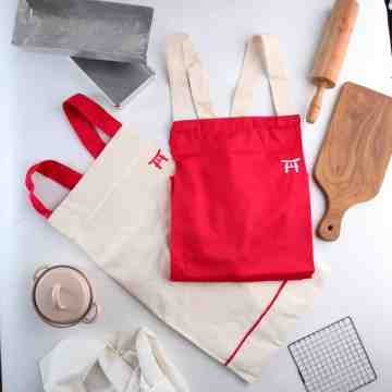 UCHII Cotton Cooking Apron | Celemek Masak Kain Dewasa All Size Pocket image