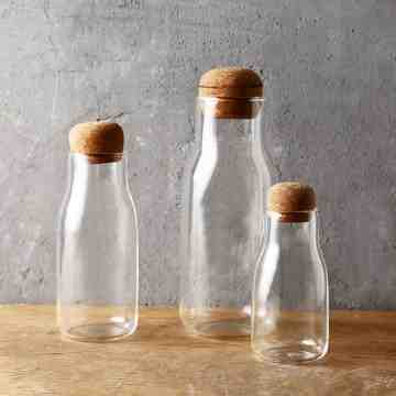 UCHII Bottle Shaped Glass Canister + Bamboo Cork | Toples Kaca Tutup M image