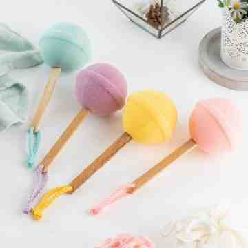 UCHII Bath Sponge Colorful Lollipop | Spons Busa Mandi Eco Friendly image
