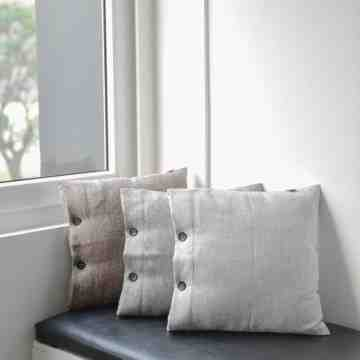 UCHII Sofa Cushion Set Pillow Cover| Bantal Dacron Sarung Knit | Gray image