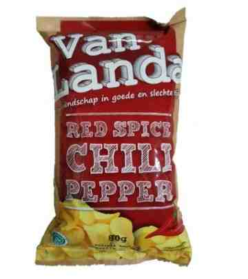 Van Landa RED SPICE CHILI PEPPER Potato Chips image