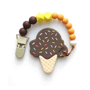 Ice Cream Teether Set - Chocolate image