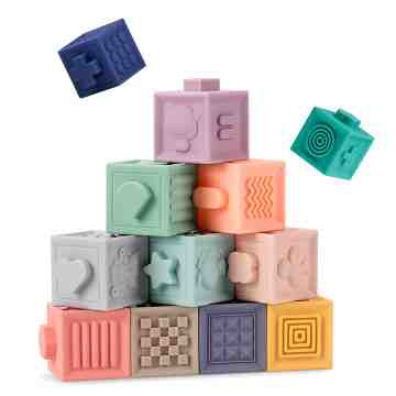 Building Blocks Silicone Teether image