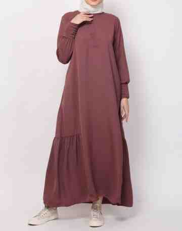 Lubaba Dress - Merah Mahagony