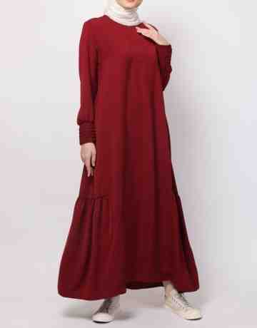Lubaba Dress - Maroon
