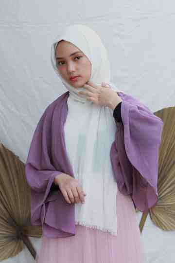 Wrinkle Cardie - Purple