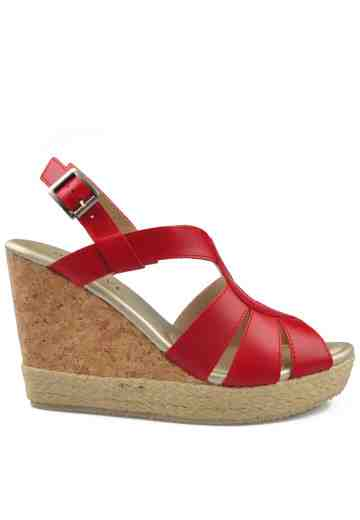 Isabel Wedges Sandals Red