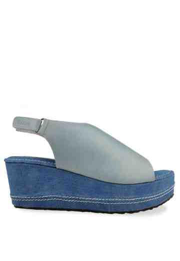 Rush Denim Wedges Sandals Baby Blue