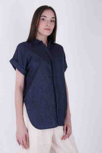 Candice Collar Linen Dress