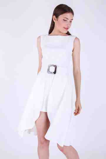 Sally Sleeveless Highlow Jumpsuit+ Belt