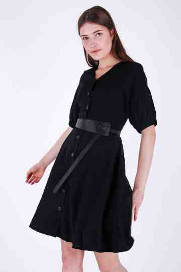 Puff Sleeve Highcond Dress