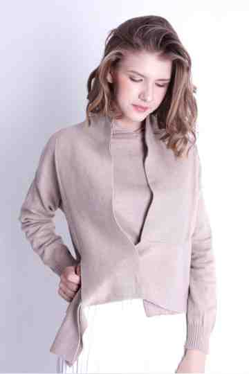 KNIT OVERLAP OUTER 748