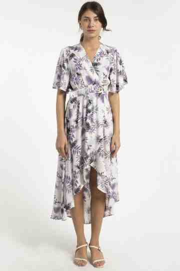 PAOLA RAYON PRINT DRESS DS-59