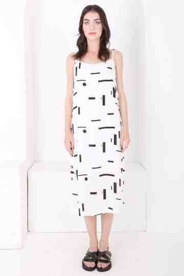 CARLA - 38868 RIZA RAYON PRINT SLEEVELESS DRESS
