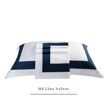 Extra 2 Pillow / Bolster Cases HS Line Velvet