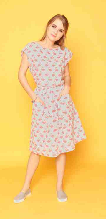 Flamingo Dress image