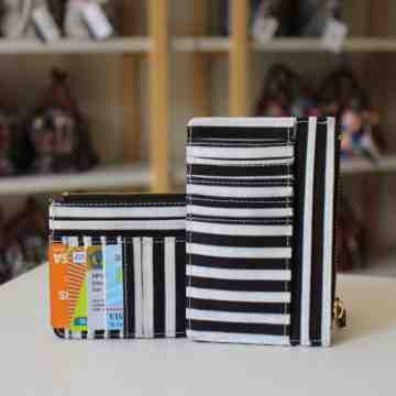 Simply Black Stripped Wallet Canvas image