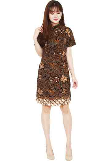 Dress Cheongsam Motif Dragem Katresnan